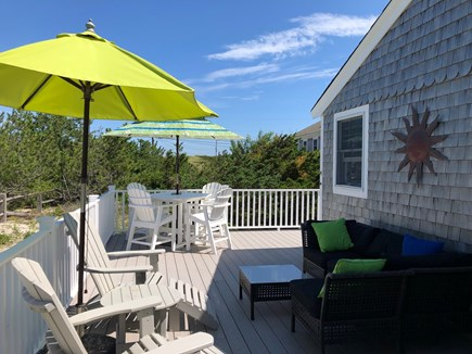 East Sandwich Cape Cod vacation rental - Large back deck