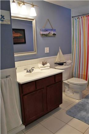 Hyannis Cape Cod vacation rental - Main Bathroom with jacuzzi tub / shower