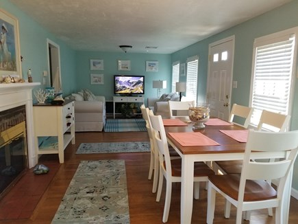 Hyannis Cape Cod vacation rental - Living room and dining area  open floor plan