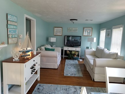 Hyannis Cape Cod vacation rental - Living room large screen tv.