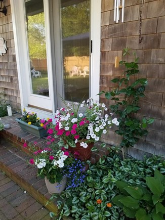 Hyannis Cape Cod vacation rental - master bedroom private entrance by patio door.