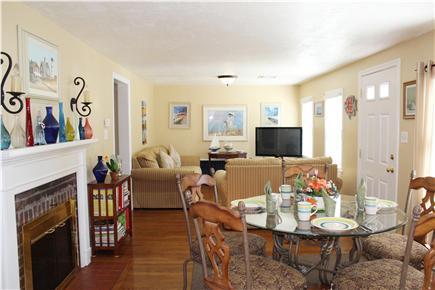 Hyannis Cape Cod vacation rental - Living room and dining area with open floor plan