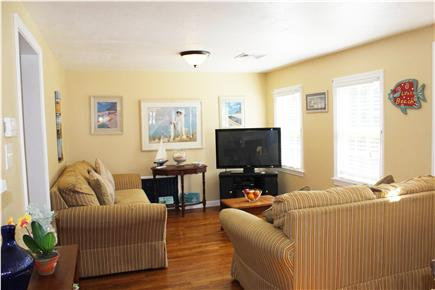 Hyannis Cape Cod vacation rental - Other side view of living room with 42'' flat screen TV