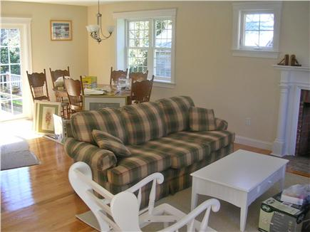 Dennis village Cape Cod vacation rental - Family/Eating Area with hardwood flooring