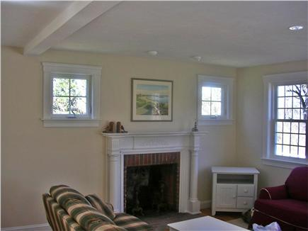 Dennis village Cape Cod vacation rental - Fireplaced family room