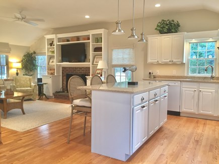 East Orleans Cape Cod vacation rental - Look at Kitchen Toward Living Area