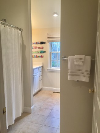 East Orleans Cape Cod vacation rental - Hall Bathroom