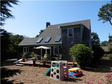Brewster Cape Cod vacation rental - Back of Home with Deck