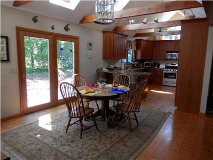 Brewster Cape Cod vacation rental - Dining Area with Views of Deck and Outdoor Area