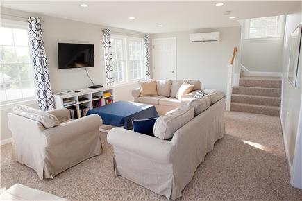 West Yarmouth Cape Cod vacation rental - New living room addition with entrance from new deck.