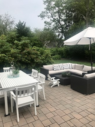 Centerville,  Barnstable Centerville vacation rental - Large patio with outside furniture and gas grille
