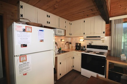 Wellfleet Cape Cod vacation rental - Kitchen with full size stove, fridge, microwave