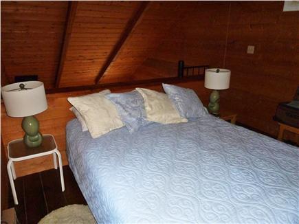 Wellfleet Cape Cod vacation rental - Master bedroom in loft with queen size bed.