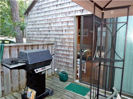 Wellfleet Cape Cod vacation rental - Privacy deck (14 X 20) and gas grill right off of kitchen