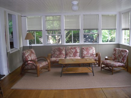 North Truro Cape Cod vacation rental - Sun porch, usually enter from outside through door here.
