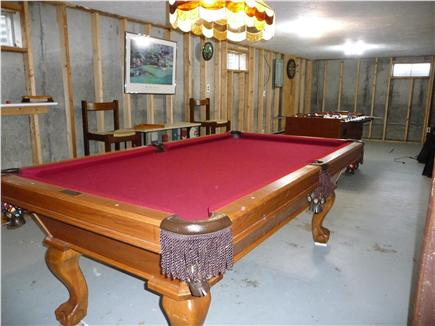 South Yarmouth Cape Cod vacation rental - Basement game room