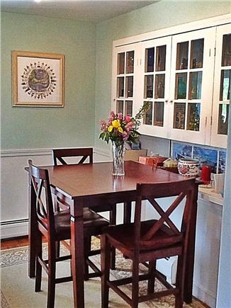 Brewster Cape Cod vacation rental - Eating area in kitchen as viewed from dining room