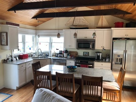 Eastham Cape Cod vacation rental - Sit at Kitchen Island with View of the Bay