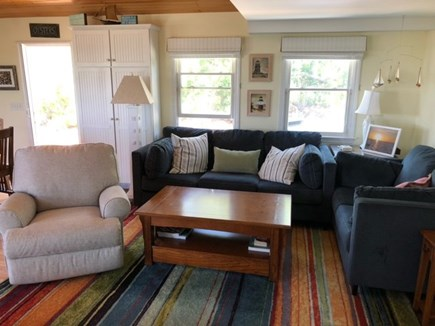 Eastham Cape Cod vacation rental - Living Area with Sofa, Loveseat, Recliner and Large Screen TV