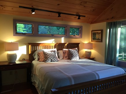 Brewster Cape Cod vacation rental - Master Bedroom, Afternoon Light, Reading Lights Above and Side