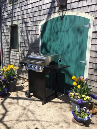 Brewster Cape Cod vacation rental - Outdoor Grill, view the pond, talk to guests on the porch.