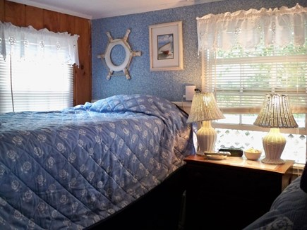 Dennisport Cape Cod vacation rental - Bedroom has two sets of bunk beds and its own TV.