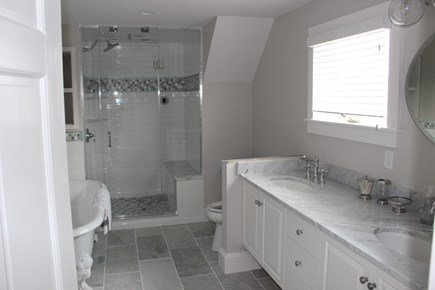 Wellfleet Cape Cod vacation rental - Master bathroom upstairs...shares bathroom with third BR