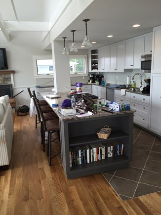 Wellfleet Cape Cod vacation rental - Kitchen and bar area
