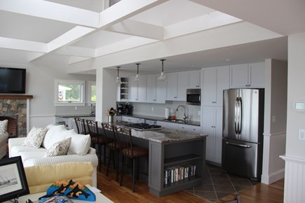 Wellfleet Cape Cod vacation rental - Kitchen and living area...