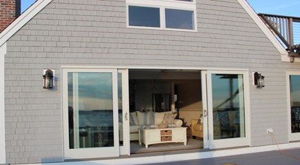 Wellfleet Cape Cod vacation rental - The front sliders open to bring the outdoors in...