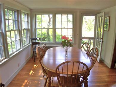 Brewster Cape Cod vacation rental - Dining room flows into living room and kitchen