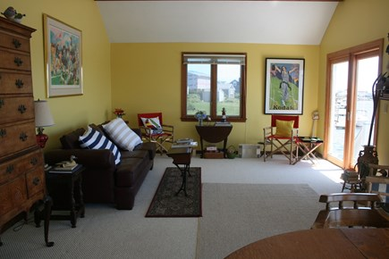 West Dennis Cape Cod vacation rental - Living Room on the Waterfront
