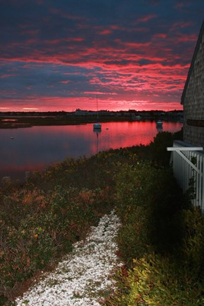 West Dennis Cape Cod vacation rental - Sunset view from the back yard