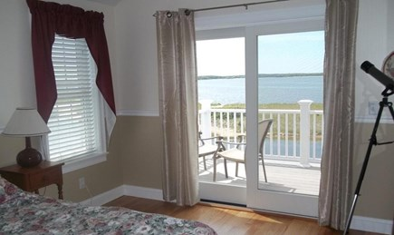 West Yarmouth Cape Cod vacation rental - Guest bedroom with ocean views from upper deck.