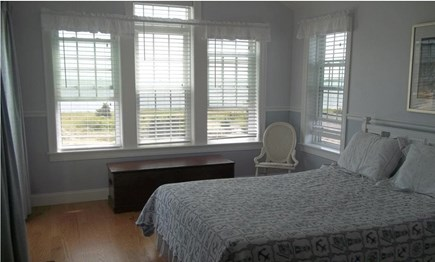 West Yarmouth Cape Cod vacation rental - Master Bedroom, Queen bed, ocean views, access to deck.