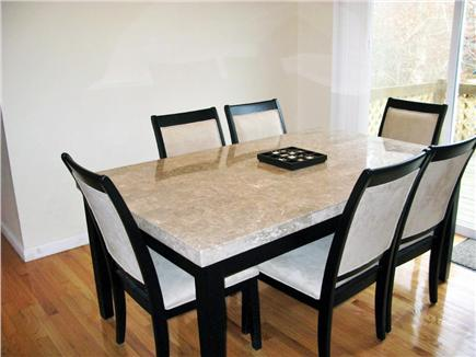 East Falmouth Cape Cod vacation rental - Marble Dining room table