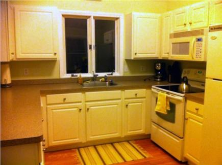 East Falmouth Cape Cod vacation rental - Kitchen with dishwasher, microwave, coffee maker, stove etc.....