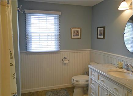Chatham Cape Cod vacation rental - One of two full baths - other has glass Rain Shower