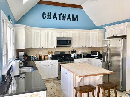 Chatham Cape Cod vacation rental - Inviting Kitchen with center island and seating