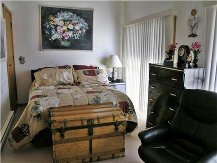 Chatham Cape Cod vacation rental - Bedroom #1 upstairs with TV/DVD and access to deck