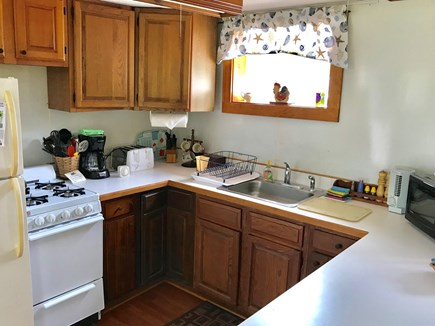 Brewster Cape Cod vacation rental - Complete kitchen with gas stove and microwave