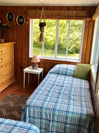 Brewster Cape Cod vacation rental - Second bedroom with bay views over deck.