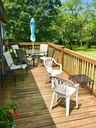 Brewster Cape Cod vacation rental - Large deck with new gas grill and views of bay.
