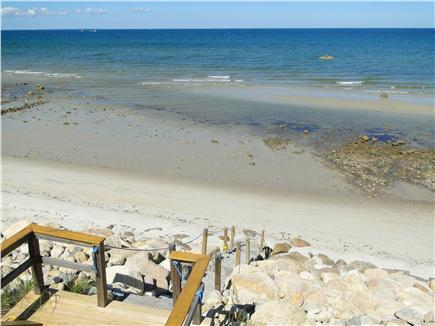 Dennis Cape Cod vacation rental - Private beach, shown at mid-tide