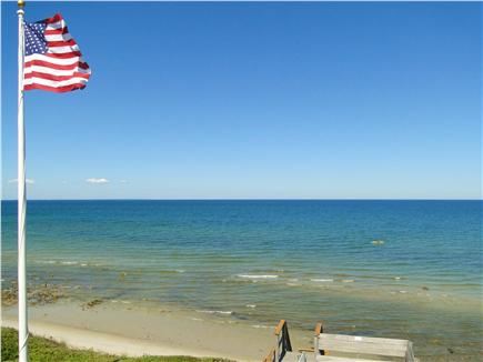 Dennis Cape Cod vacation rental - View from master deck of walkway to beach