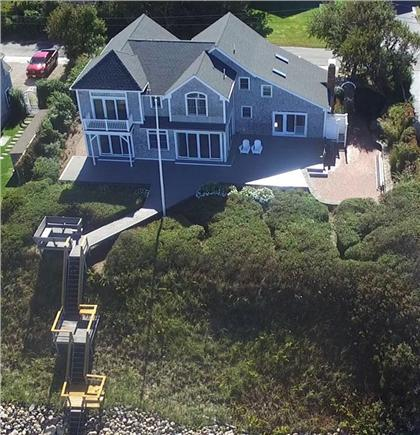 Dennis Cape Cod vacation rental - Showing large deck, and the smaller decks that lead to beach