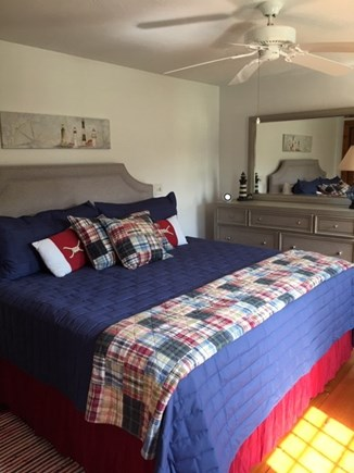 Dennis Cape Cod vacation rental - Main floor king bedroom with full bath