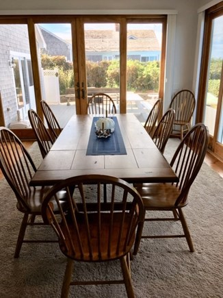 Dennis Cape Cod vacation rental - Dining room seats 12, opens with sliders to deck