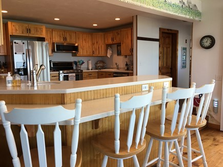 Dennis Cape Cod vacation rental - Modern bright kitchen with breakfast bar