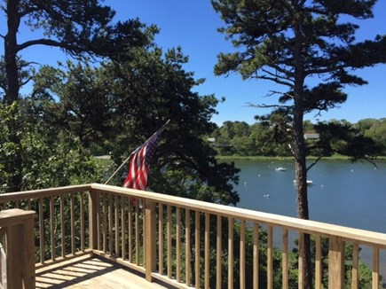 Chatham Cape Cod vacation rental - Enjoying the view of the pond from the deck